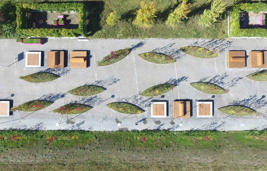 Photo aérienne du cours Roger Bonvin